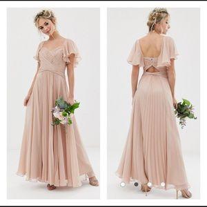 ASOS DESIGN Bridesmaid pleated bodice maxi dress 2